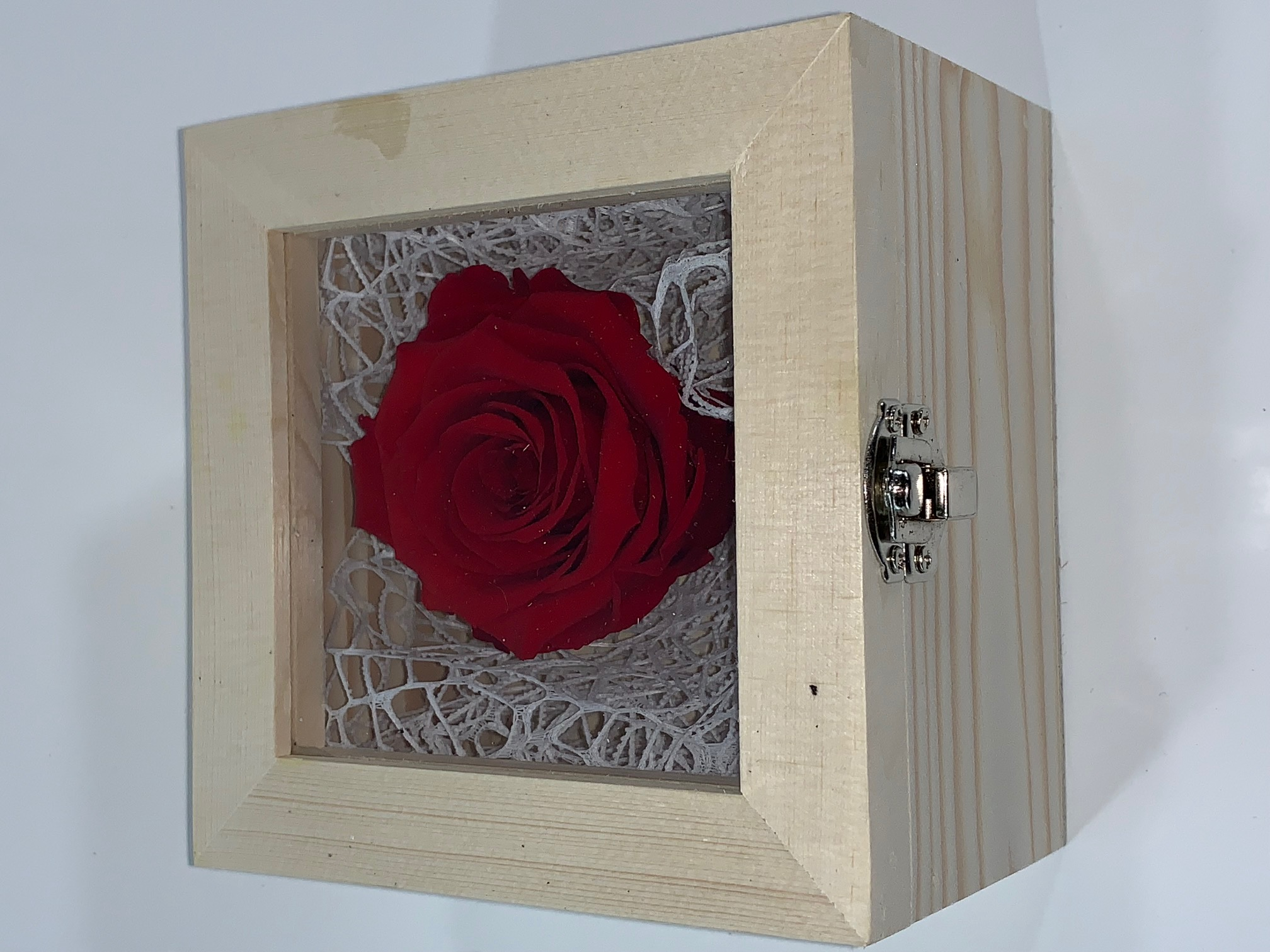 Valentine Box XL Last4ever Real Rose (wood/white)