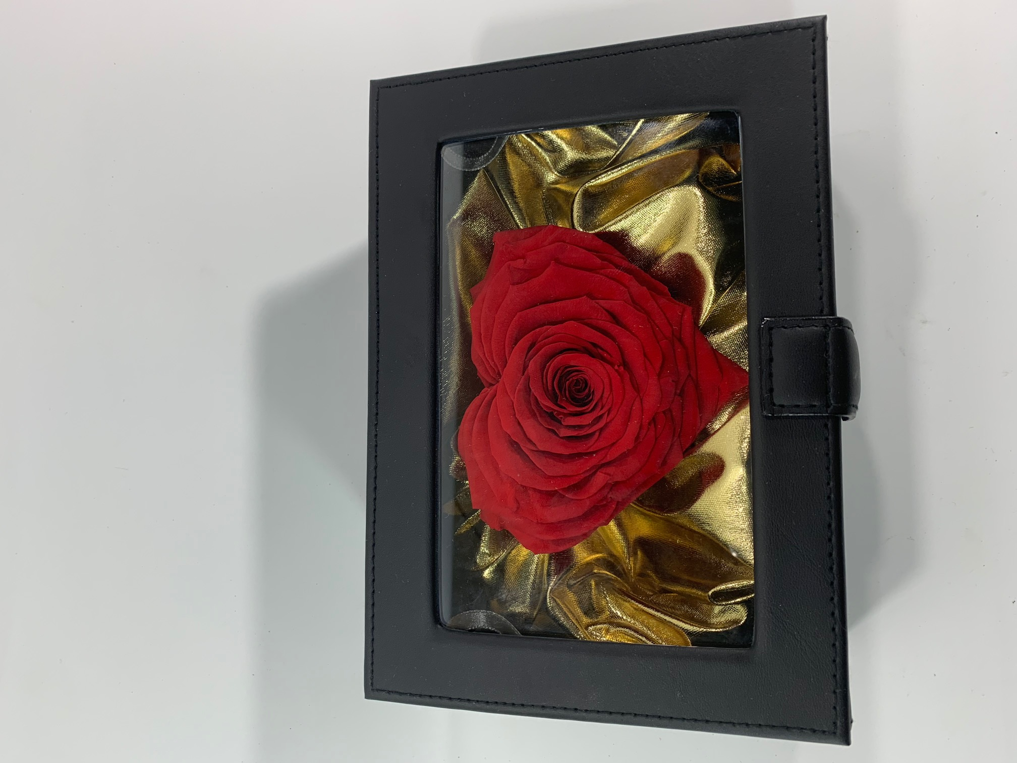 Valentine Box XXL Last4ever Real Heart Rose (Black-luxury/gold)