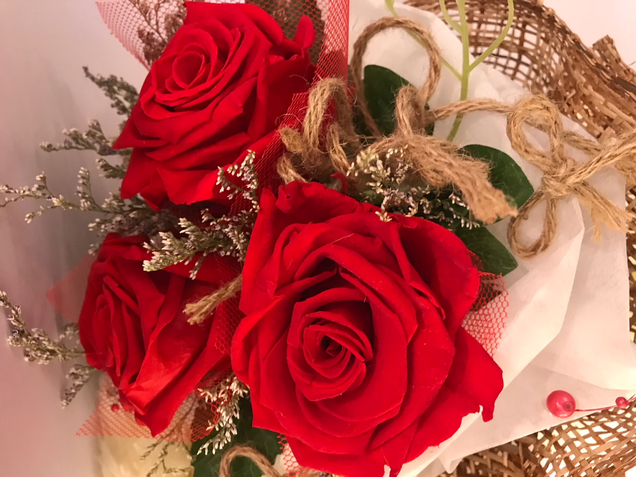 Last4ever Real Roses Bouquet of 3